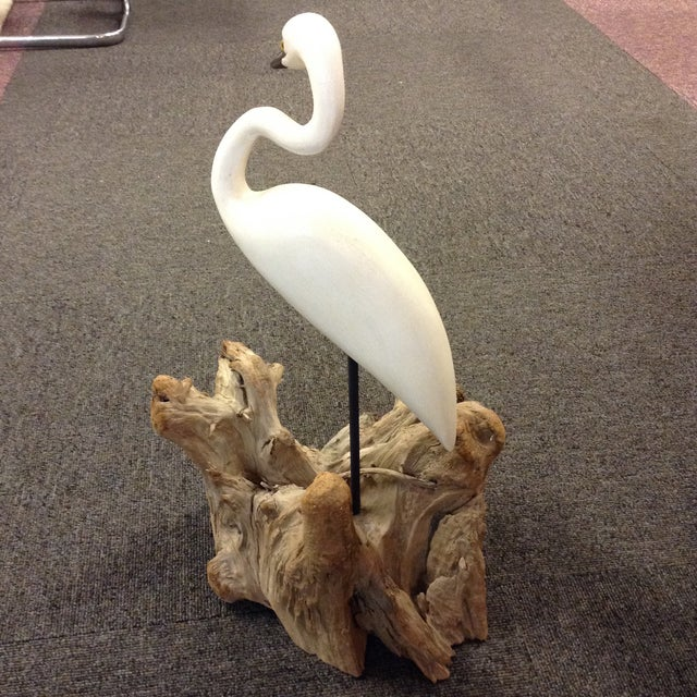 Carved Stork Figure by Eddie Wozny - Image 6 of 9