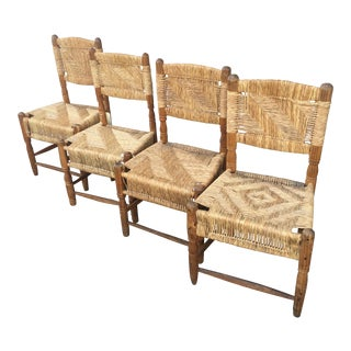 Vintage Mexican Woven Ranch Chairs - Set of 4