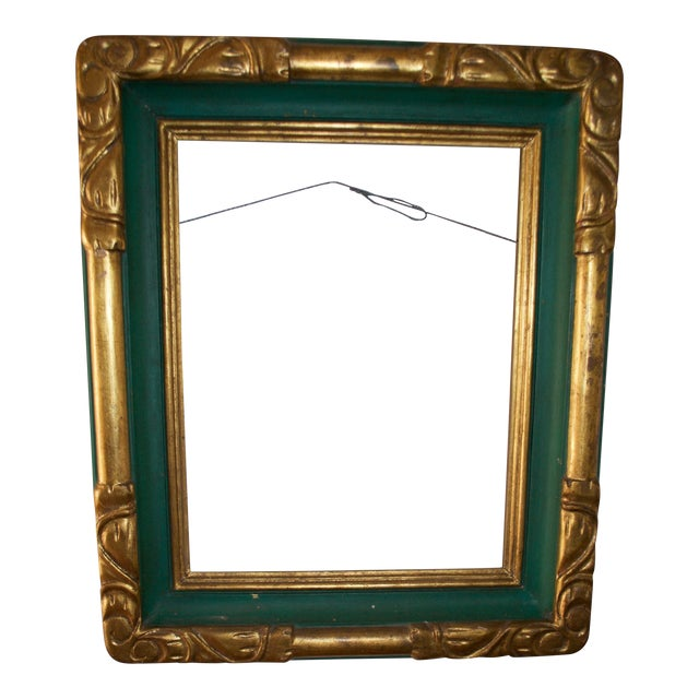 Vintage Hand Made Carved and Painted Wooden Frame - Image 1 of 5