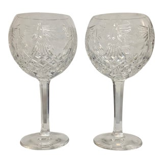 Waterford Millennium Peace Pattern Toasting Goblets - a Pair For Sale