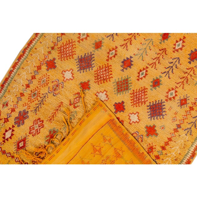 """Islamic Antique Moroccan Rug, 3'10"""" X 6'2"""" For Sale - Image 3 of 10"""