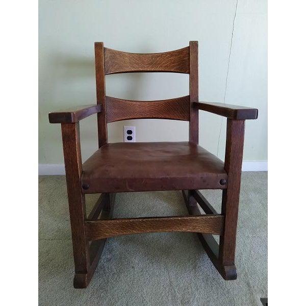 Limbert Limbert #8074 Rocking Chair For Sale - Image 9 of 9