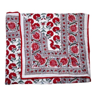 Janvi Reversible Quilt, King - Red For Sale