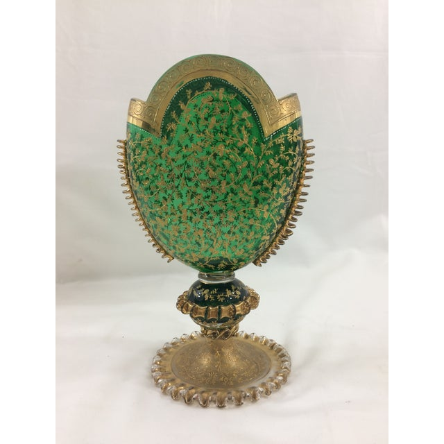 Murano 19th Century Murano Glass Gilded Vase For Sale - Image 4 of 8