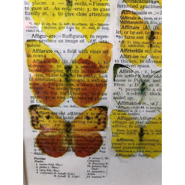 Original Prints on Italian Dictionary Page For Sale - Image 4 of 6