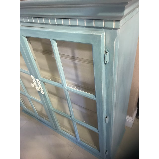 "Blue French Provincial ""Annabel"" China Cabinet - Image 8 of 11"