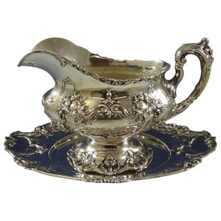Francis I by Reed & Barton Sterling Silver Gravy Boat With Underplate For Sale