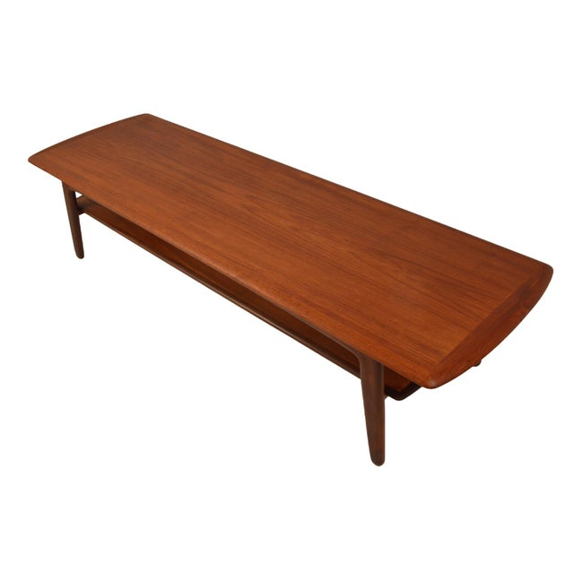 Mid-Century Svend A. Madsen Teak Coffee Table For Sale