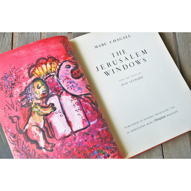 1960s Marc Chagall the Jerusalem Windows Hardback First Edition Book For Sale - Image 5 of 12