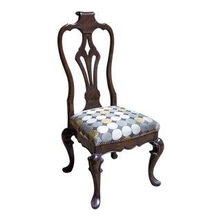 Fremarc Designs Carved Slat Back Side Chair For Sale