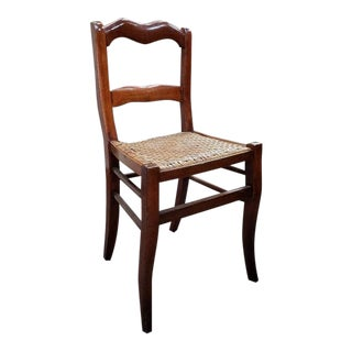French Walnut & Cane Side Chair C.1910 For Sale
