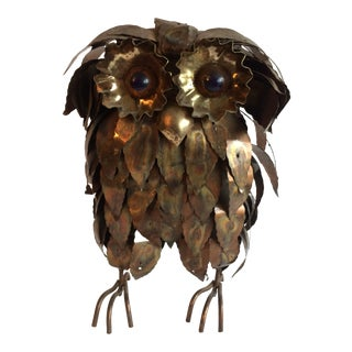 Vintage Jere Style Mid Century Owl For Sale