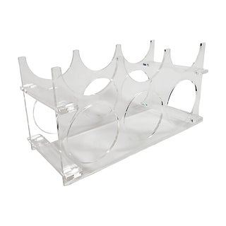Lucite Acrylic Wine Rack For Sale