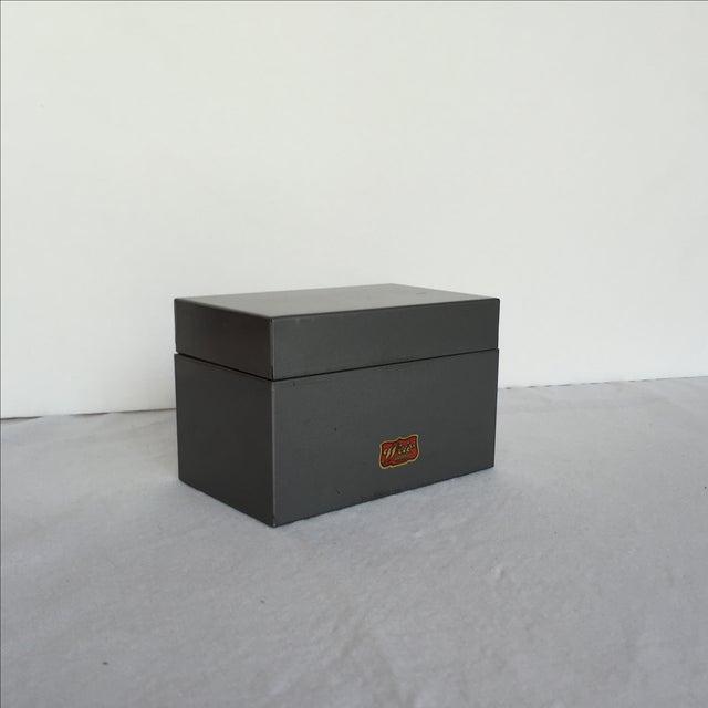 Mid-Century Metal Index Box - Image 5 of 7