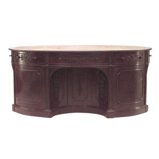 19th Century English Georgian Mahogany Oval Executive Desk For Sale