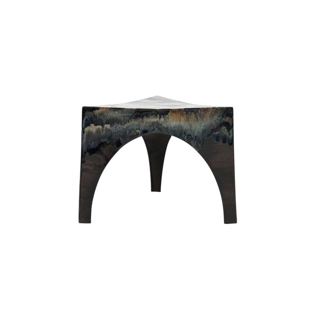 Mid-Century Modern Sculptural Ceramic Stool For Sale - Image 3 of 11