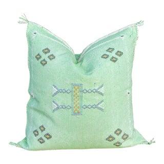 Sofina Moroccan Silk Rug Pillow For Sale