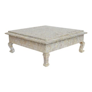 Mother-Of-Pearl and Brass Low Table For Sale