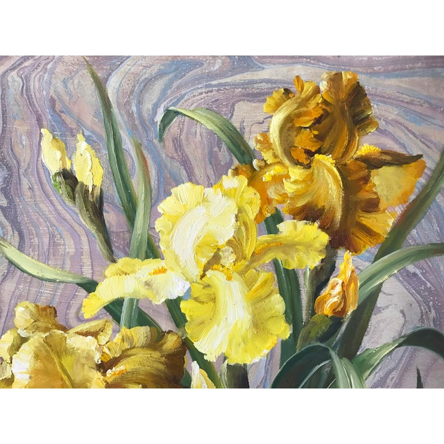 Framed Daffodils Oil Painting - Image 3 of 5