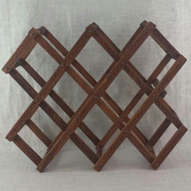 Teak Wood Wine Rack - Image 2 of 5