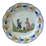 Image of 1960 French Faience Quimper Plate For Sale