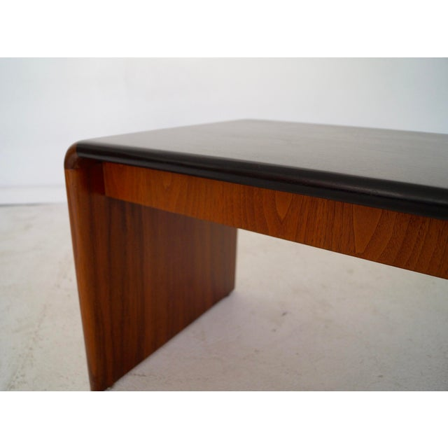 Mid-Century Teak Waterfall Edge Coffee Table - Image 10 of 11