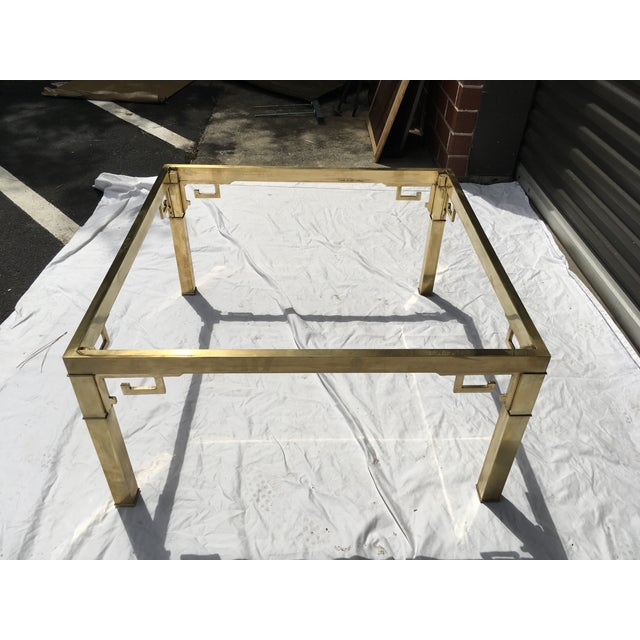 Mastercraft Italian Brass Coffee Table For Sale - Image 11 of 12
