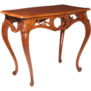 19th Century Italian Walnut Occasional Table For Sale