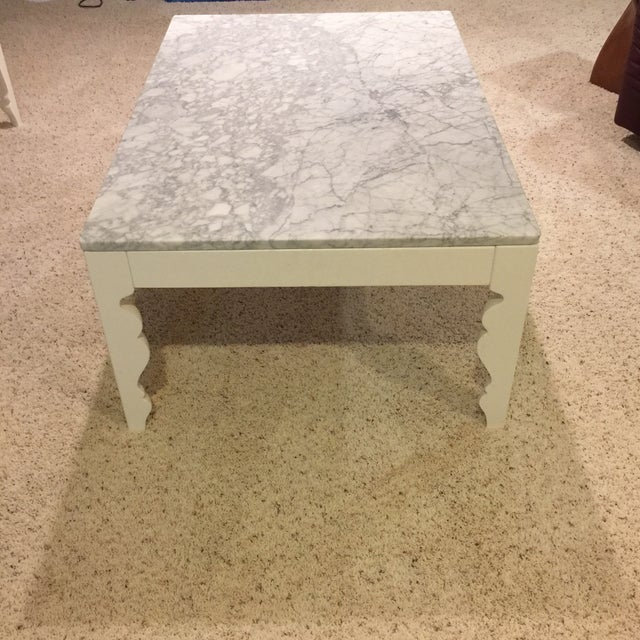 Arhaus Marble Coffee Table - Image 4 of 5