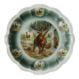 Antique Bavarian Elk Plate For Sale