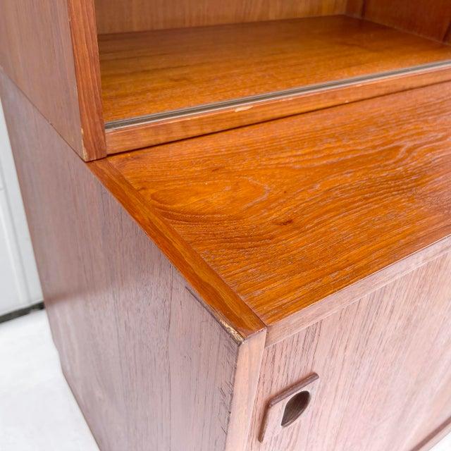 Mid-Century Teak Bookshelf With Cabinet For Sale - Image 9 of 13