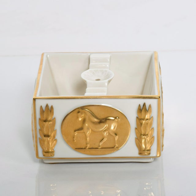 Mid-Century Modern Mid-Century Modern Lenox 24k Gold Stallion Ash Tray Designer's Collection For Sale - Image 3 of 6