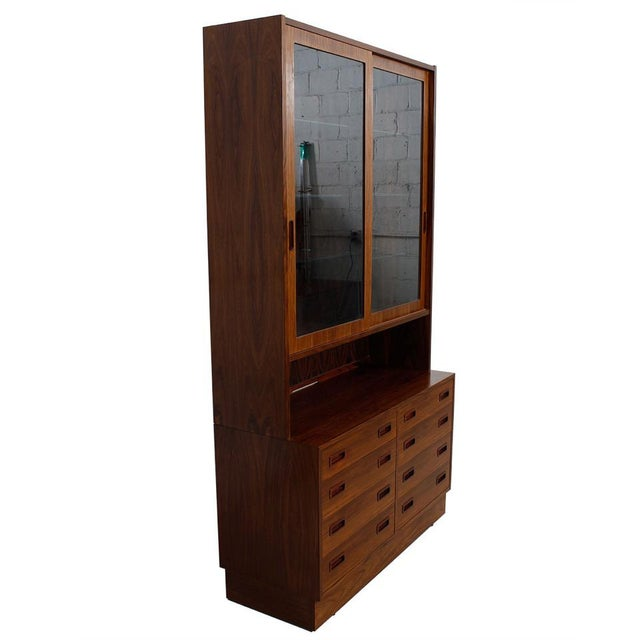 Danish Rosewood Bookcase / Display Cabinet For Sale