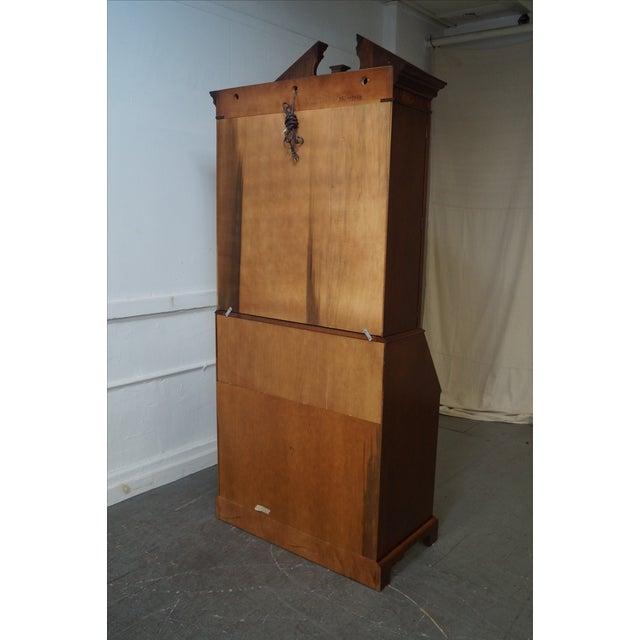 Hekman Mahogany & Yew Wood Inlaid Secretary Desk - Image 9 of 10