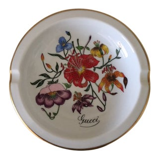 1980s Vintage Porcelain Richard Ginori for Gucci Ashtray For Sale