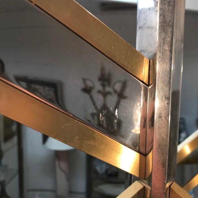 Metal Gaetano Sciolari Chevron Chandelier For Sale - Image 7 of 10