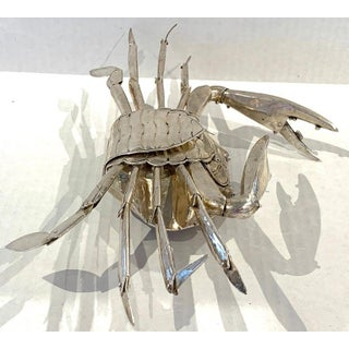Large Sterling Articulated Model/ Spice Box of a Crab Preview
