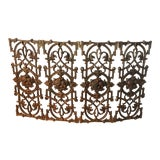 Image of Antique French Rococo Style Iron Folding Fireplace Screen For Sale