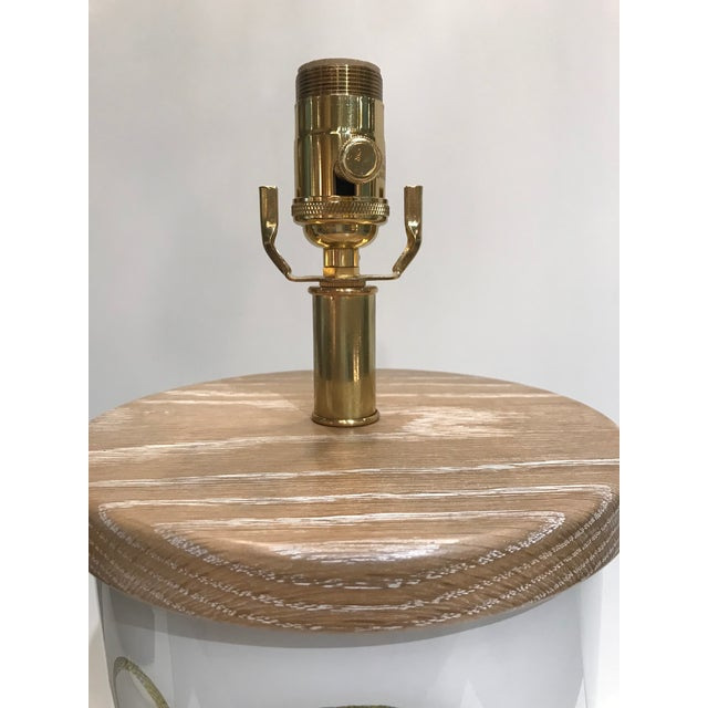 Liz Marsh Designs Single Golden Serpent Table Lamp For Sale - Image 9 of 12