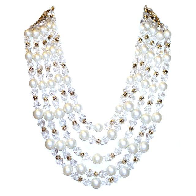 1960s Schiapareli Faux-Pearl Bib Necklace For Sale In Los Angeles - Image 6 of 6