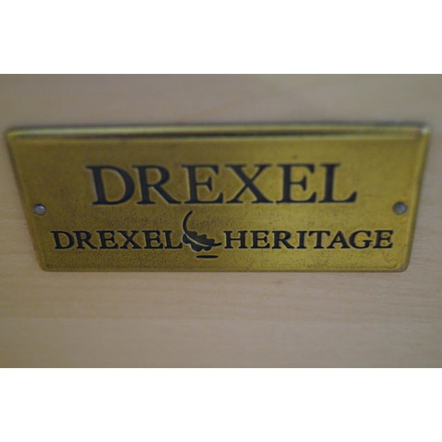 Drexel Heritage Yellow Painted Bombe Chests - A Pair - Image 9 of 10