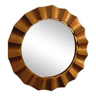 1970s Vintage Gold Cast Resin Sunburst Mirror For Sale