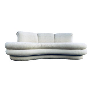 "1980s Vintage Adrian Pearsall for ""Comfort Designs"" Curved Kidney Shaped Sofa For Sale"
