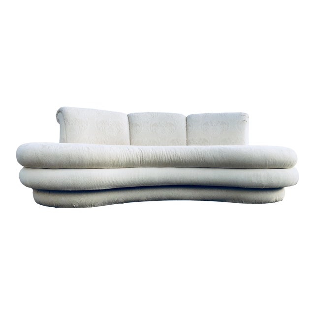 """1980s Vintage Adrian Pearsall for """"Comfort Designs"""" Curved Kidney Shaped Sofa For Sale"""