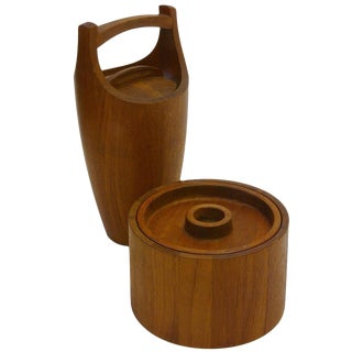 Pair of Teak Dansk Ice Buckets by Jens Quistgaard
