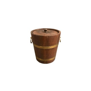 Oak & Brass Bucket