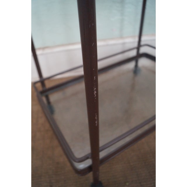 Brown Jordan Tamiami Aluminum Patio Serving Cart For Sale - Image 9 of 10