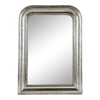 19th Century, Louis Philippe Silver Gilt Mirror For Sale