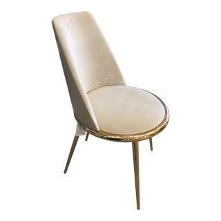 Mid Century Modern Cantori Aurora Metal Gold Finish Chair For Sale