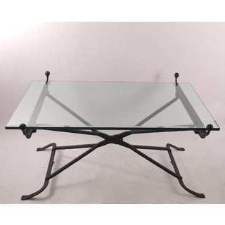 Wrought Iron Glass Top Coffee Table in the Gothic Style Preview